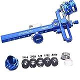 SHARROW Compoundbogen Visier Set Bogen Visier Anblick Bogenvisier mit 6X 8X Linse 37/45 Grad Peep Sight (Blau(1.00/8x), 37°/6-fache Linse)