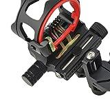 ZSHJG Bogenschießen Mikroeinstellung Bogen Visier Aluminiumlegierung 5 Pin .019 '' Compoundbogen Sight Langer Pfosten für die Linke Rechte Hand (schwarz)