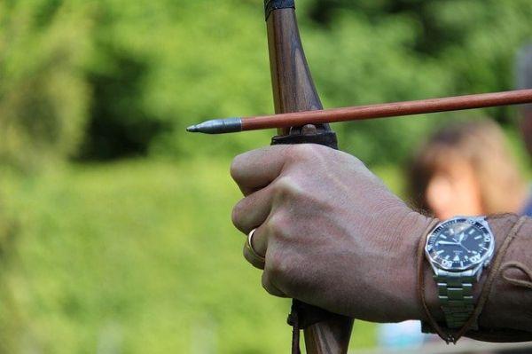 Bogenschießen lernen Anfänger Griff